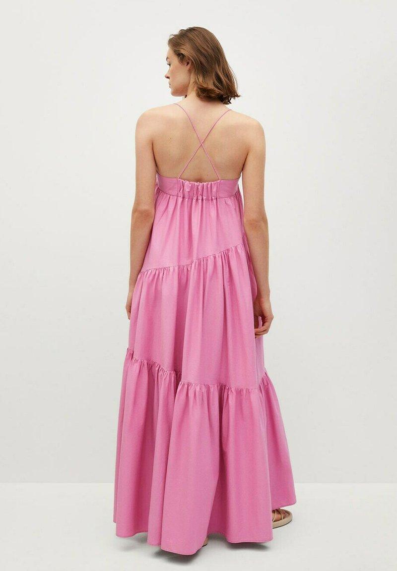 Mango - MIT RÜSCHEN - Maxi dress - rosa