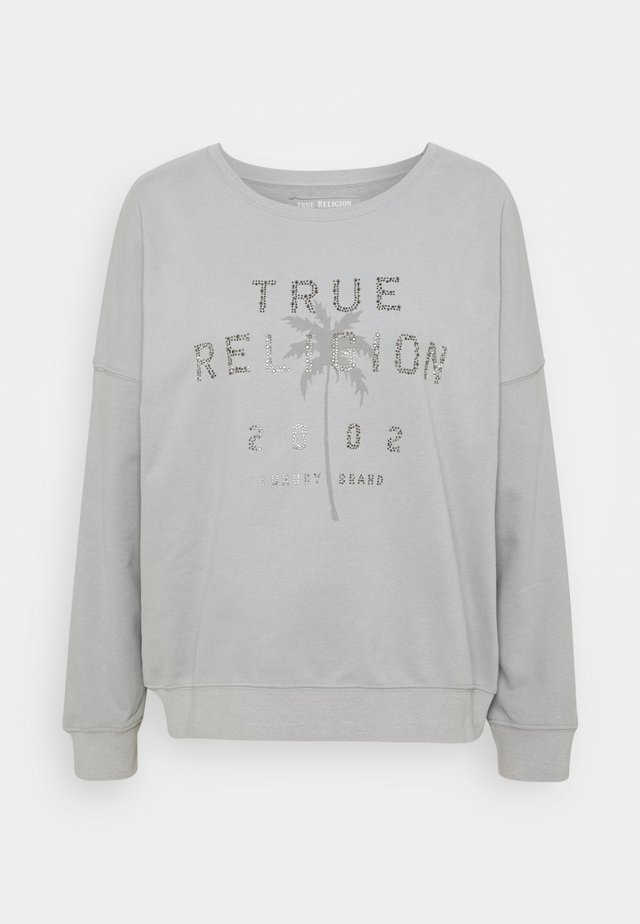 BOXY CREW NECK PALM TREE - Mikina - frost