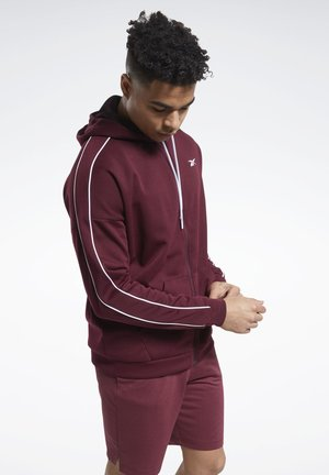 WORKOUT READY FULL-ZIP HOODED JACKET - veste en sweat zippée - burgundy