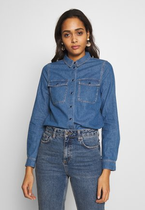 ONLSASSY  POCKET - Button-down blouse - medium blue