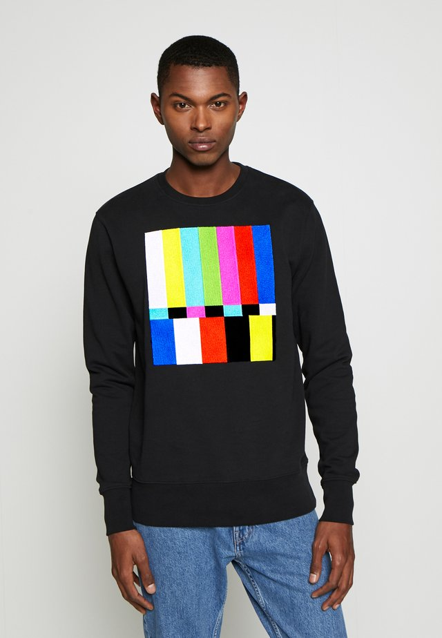 BLURRED SCREEN BIG - Sweatshirt - black