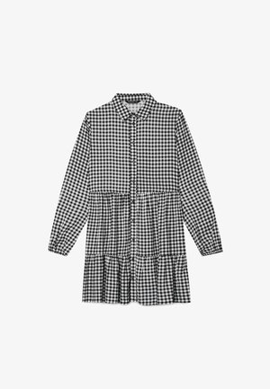 MIT KAROMUSTER  - Shirt dress - black