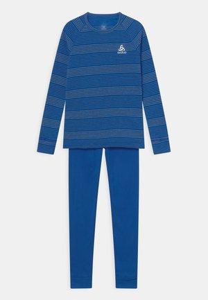 LONG ACTIVE WARM ECO SET UNISEX - Unterhemd/-shirt - nautical blue/steel grey melange