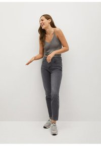 Mango - NEWMOM - Slim fit jeans - open grijs - 1