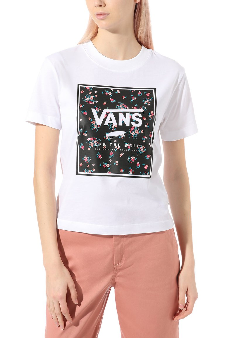 Vans - WM BOXED IN BOXY - Print T-shirt - white