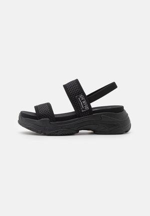 SAMURAI - Sandalen met plateauzool - black
