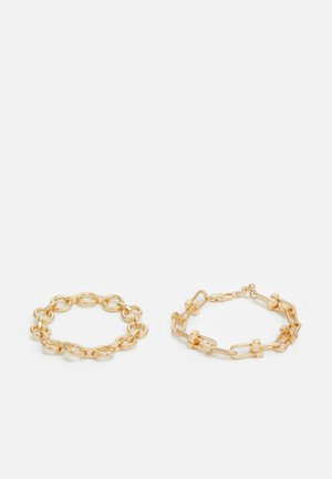 PCBIONDIA BRACELET 2 PACK - Armbånd - gold-coloured