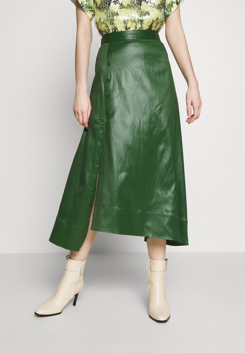 3.1 Phillip Lim - SKIRT WITH SIDE SNAP - Jupe trapèze - vetiver green