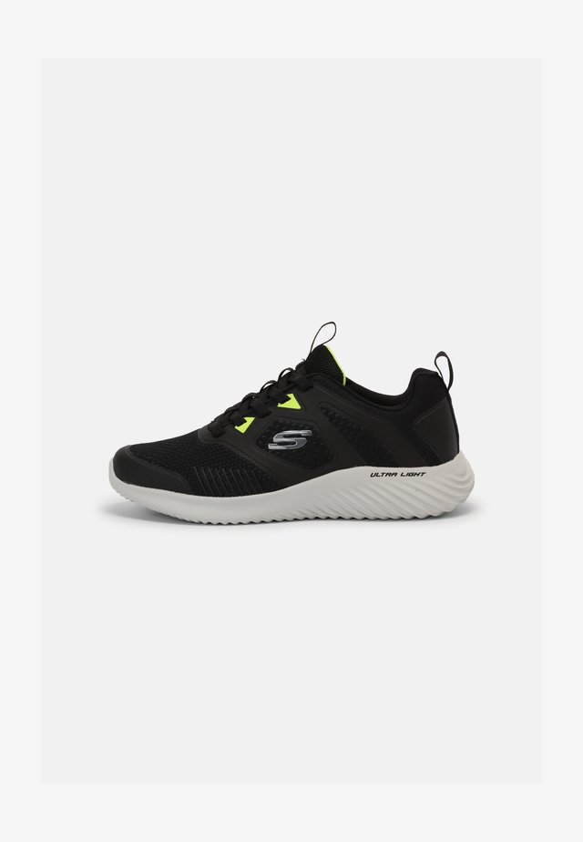 BOUNDER - Sneakers laag - black/lime
