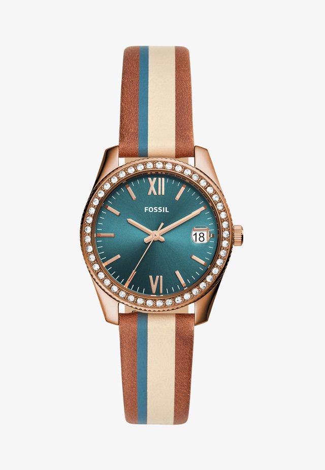 SCARLETTE - Watch - blau/beige/braun
