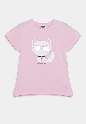 SHORT SLEEVES TEE - T-shirt imprimé - pink