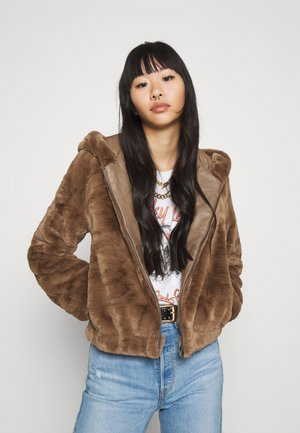 ONLMALOU HOOD JACKET - Winterjas - toasted coconut