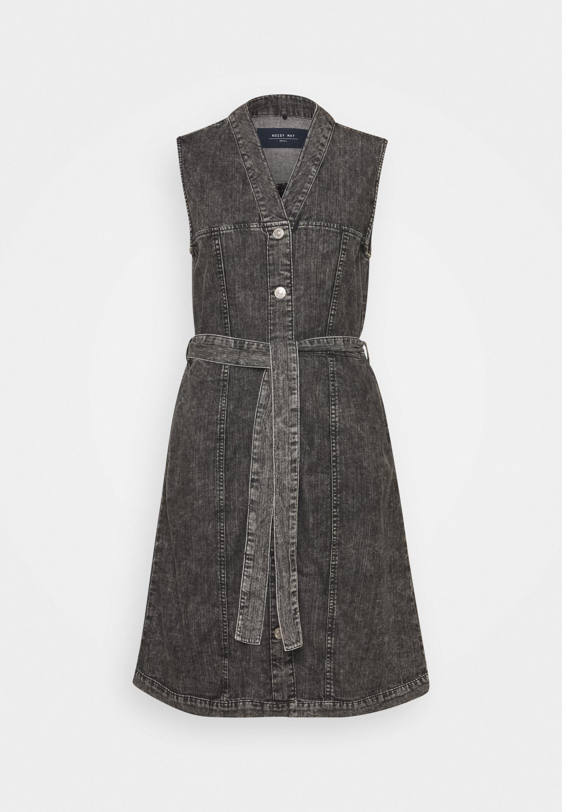 Women NMVERITA V NECK DRESS - Denim dress