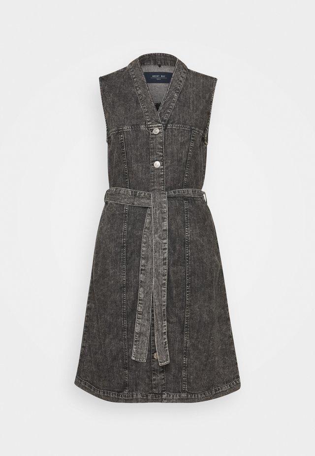 NMVERITA V NECK DRESS - Sukienka jeansowa - black