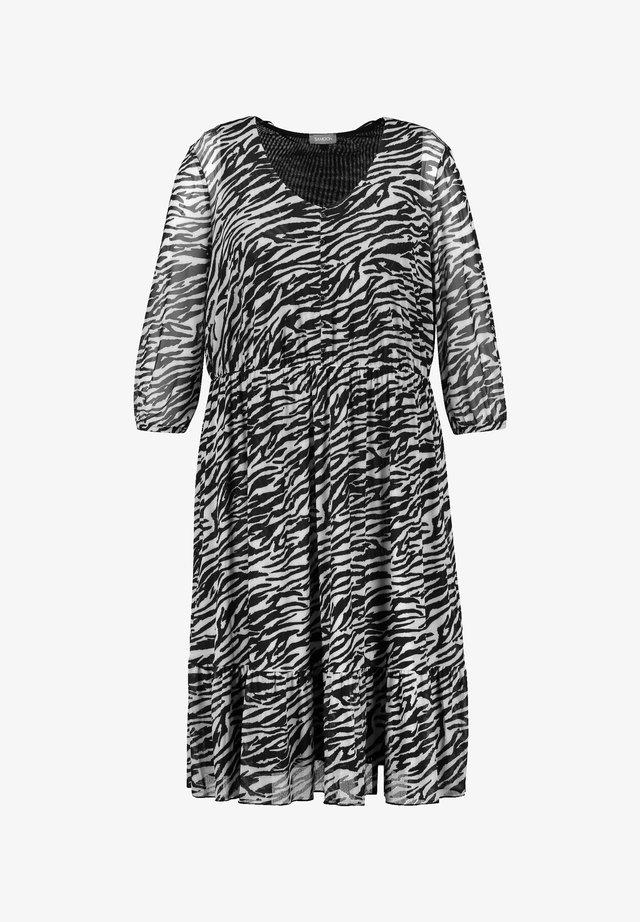 Korte jurk - black gemustert