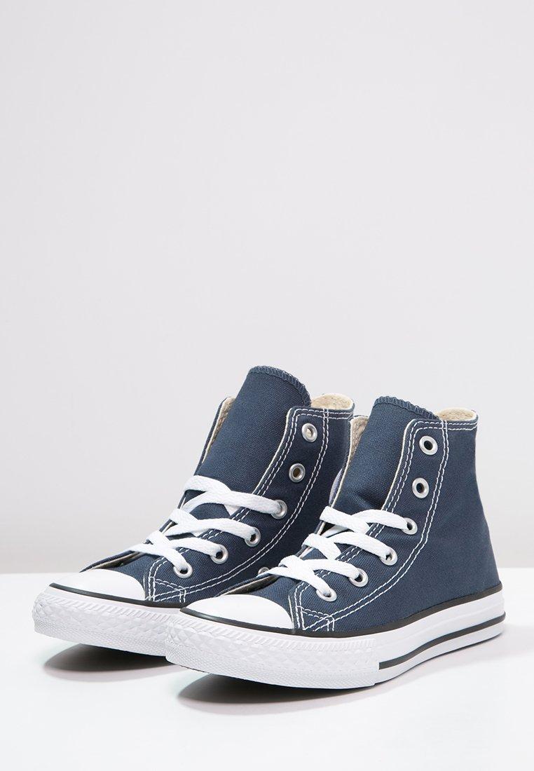 converse alte bianche blu