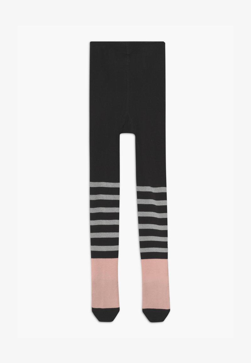 Papu - Punčocháče - black/pink/grey