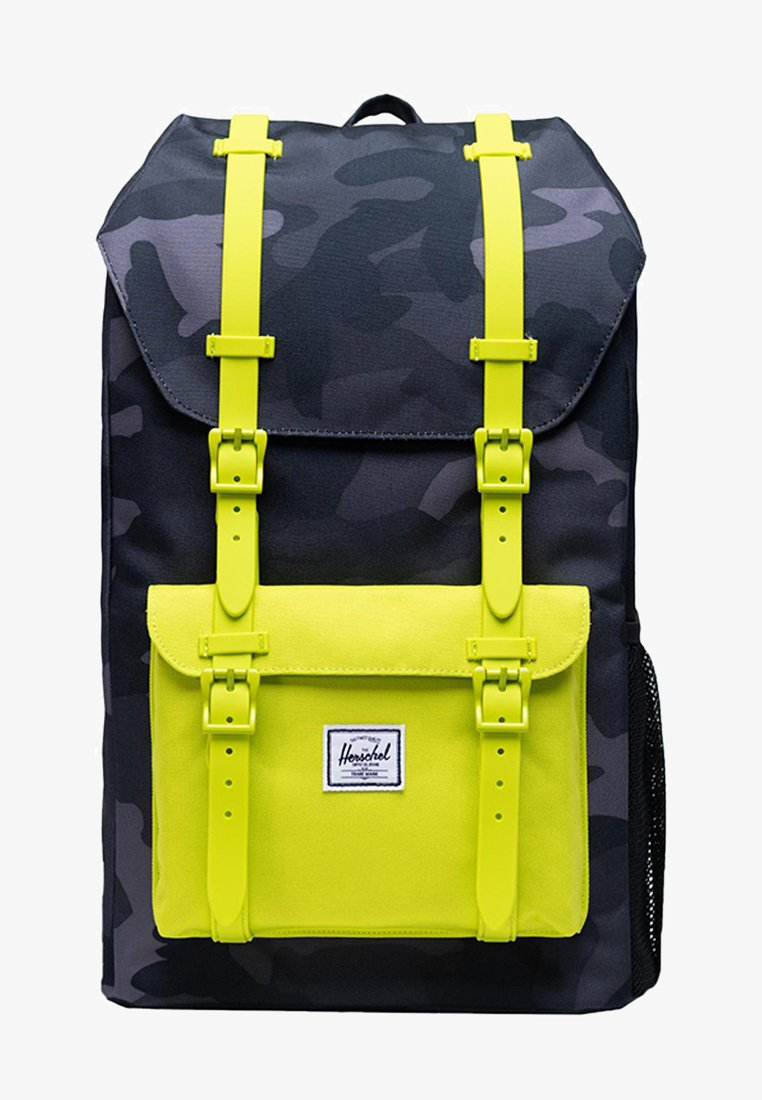 Herschel - LITTLE AMERICA YOUTH - Rucksack - night camo/lime punch
