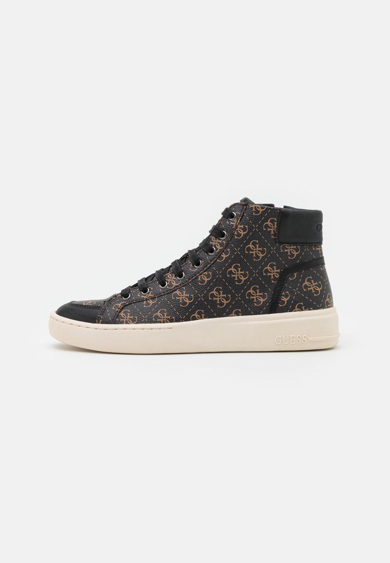 Guess - VERONA MID - High-top trainers - brown/oachra