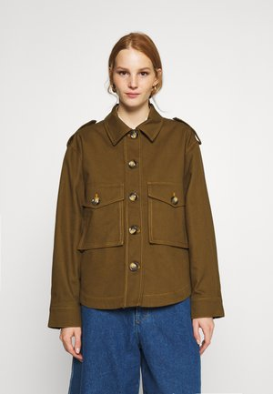 BETONY JACKET - Denim jacket - dark olive