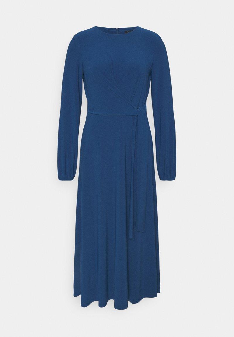 Lauren Ralph Lauren - MID WEIGHT DRESS - Jersey dress - dark cerulean