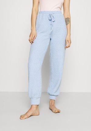 FUZZY JOGGERS - Pyjamasbukse - blue