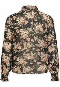 Vila - Button-down blouse - black - 5