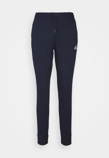 ESSENTIALS FRENCH TERRY STRIPES PANTS - Tracksuit bottoms - legend ink/white