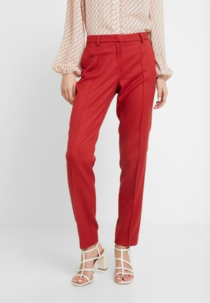TROUSER - Spodnie materiałowe - granate red
