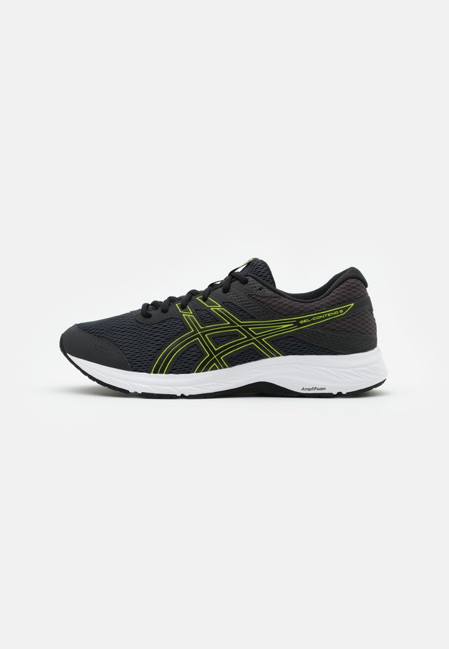 GEL CONTEND 6 - Neutral running shoes - graphite grey/lime zest