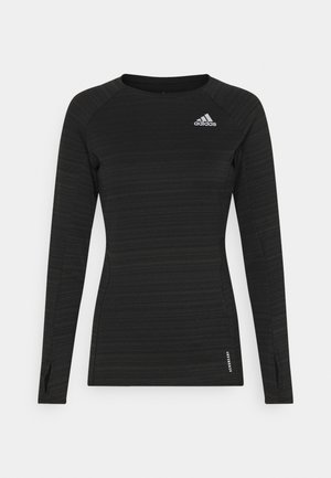 ADI RUNNER - Sports shirt - black/reflective silver