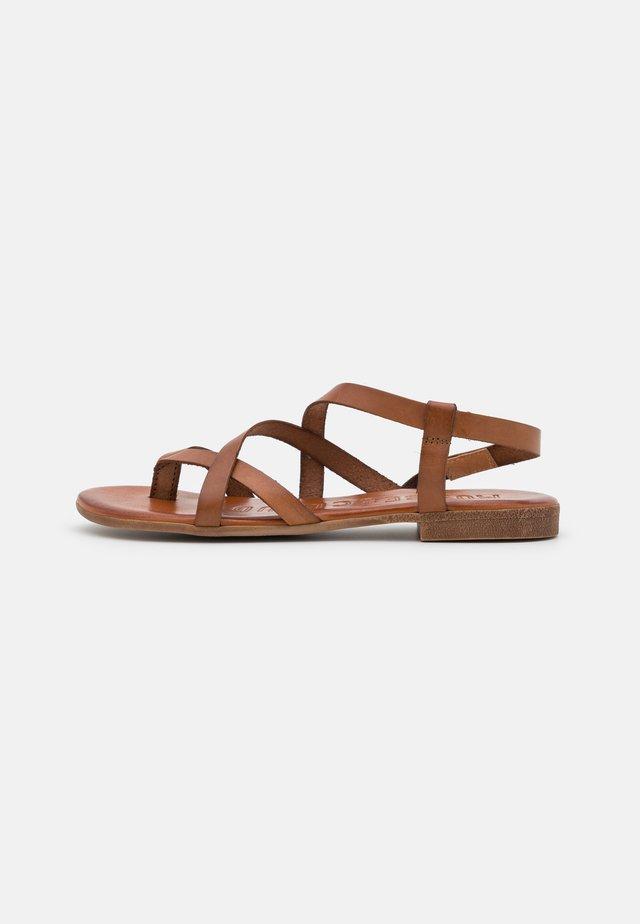 ESTELA - Sandaalit nilkkaremmillä - brown