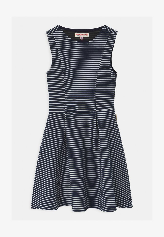 PALETTE STRIPED PARTY  - Jerseykleid - dark blue