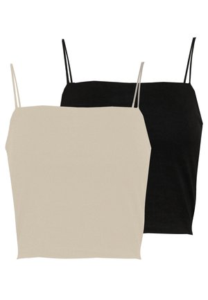 SCARLETT SINGLET 2 PACK - Top - black/simply taupe