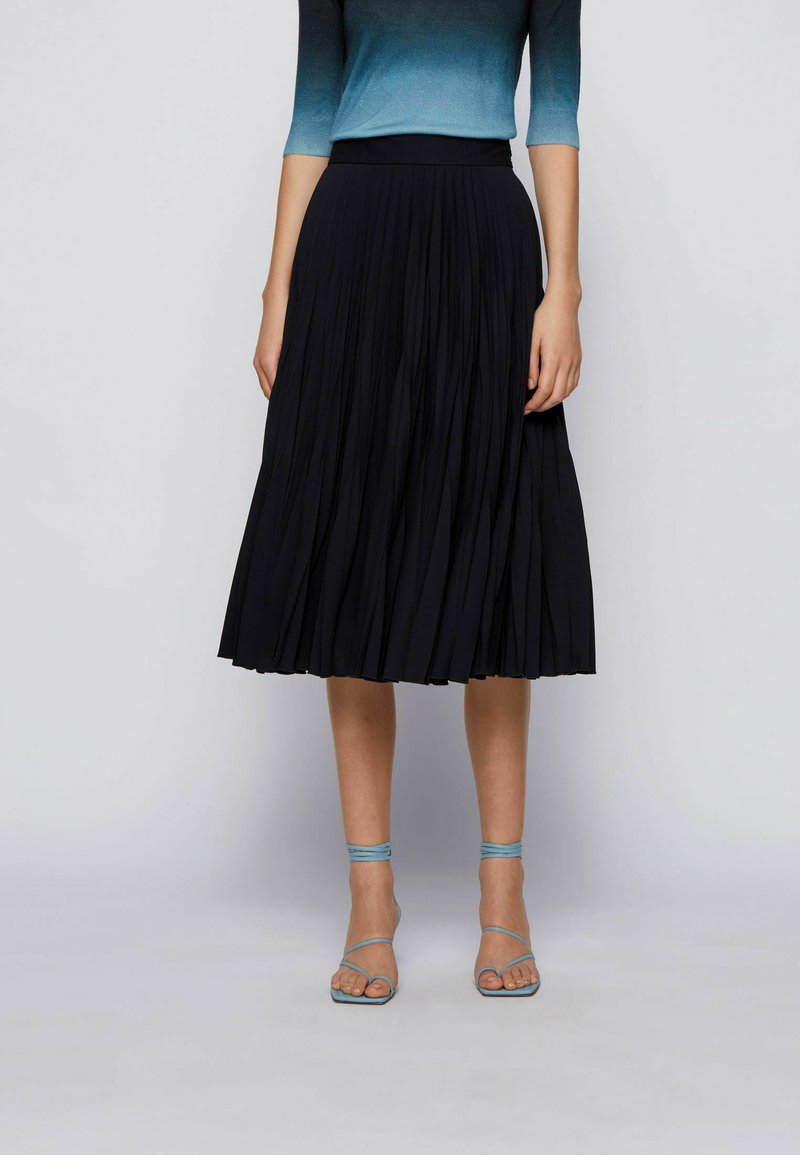 BOSS - A-line skirt - open blue