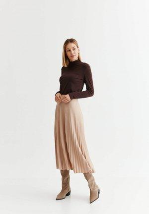 ALMI - Áčková sukně - beige