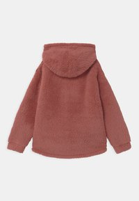 Lindex - TEEN PILE HOODIE PEACH - Fleece trui - dark dusty pink - 1