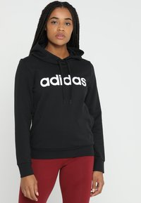 adidas Performance - ESSENTIALS LINEAR SPORT HODDIE - Hoodie - black - 0
