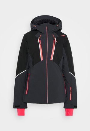 WOMAN JACKET FIX HOOD - Skijakke - antracite