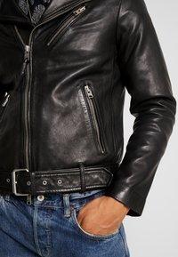 AllSaints - RIGG BIKER - Leather jacket - black - 5