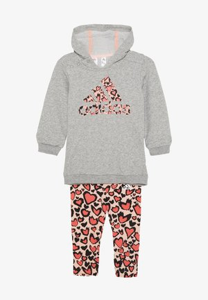FAVOURITES TRAINING SPORTS TRACKSUIT BABY SET - Tepláková souprava - medium grey heather/coral/red