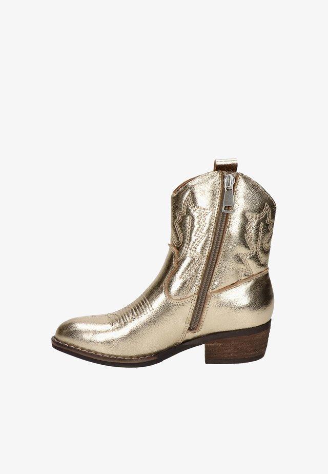 Cowboy-/Bikerlaarzen - goud