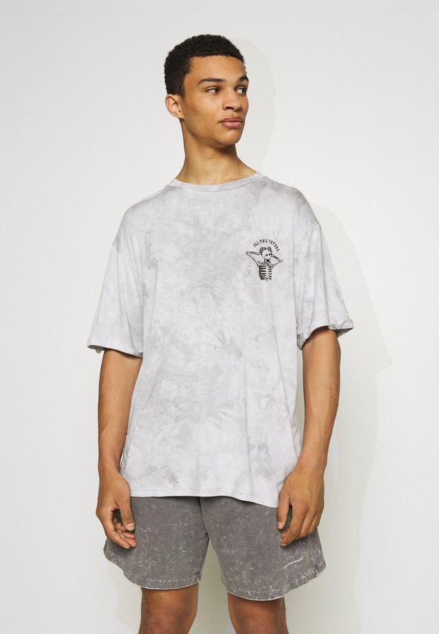 CUSTOM TIE DYE TEE - T-Shirt print - black