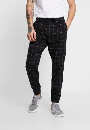 PLAID - Trousers - khaki/black