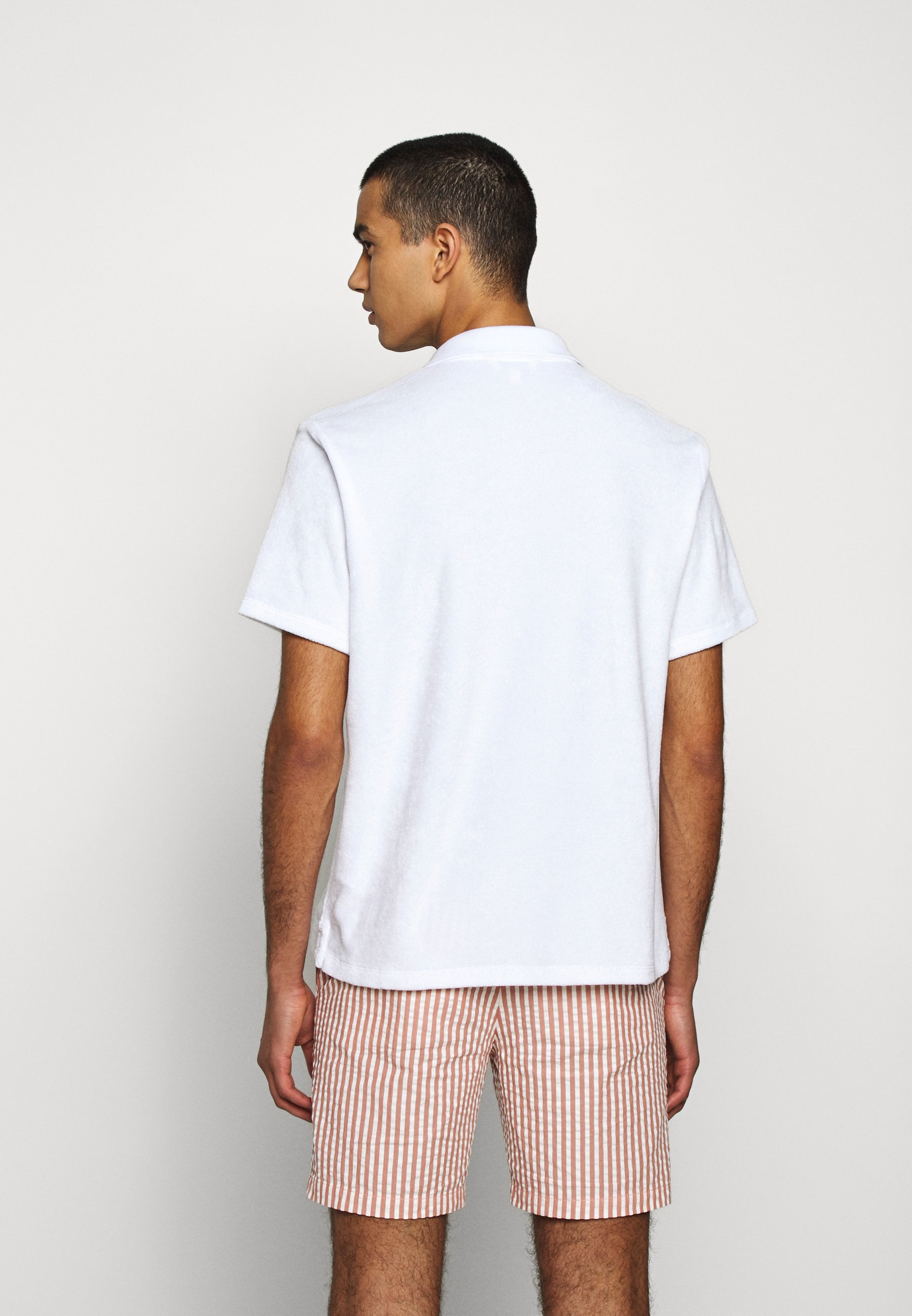 Club Monaco TERRY POLO - Polo shirt - paper white ww1J4