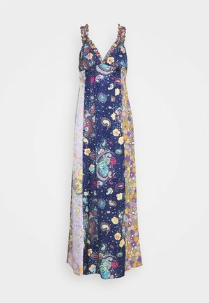 ABITO LUNGOSENZA MANICHE - Maxi dress - dark blue