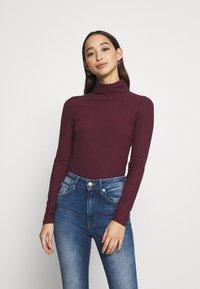 New Look - ROLL NECK - Long sleeved top - dark burgundy - 0