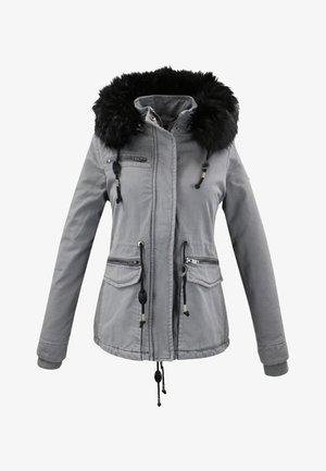 MIT KUNSTFELLBESATZ AN DER KAPUZE - Winter jacket - gris clair