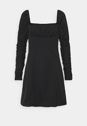 TERRY DRESS - Denní šaty - black