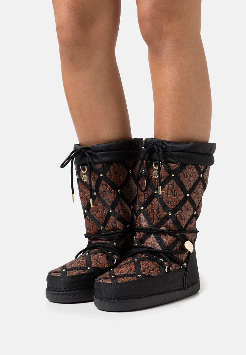 River Island - KIM QUILTED  - Winter boots - black